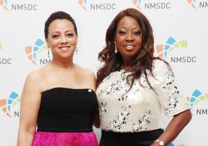 NMSDC President Joset Wright-Lacy with Host Star Jones