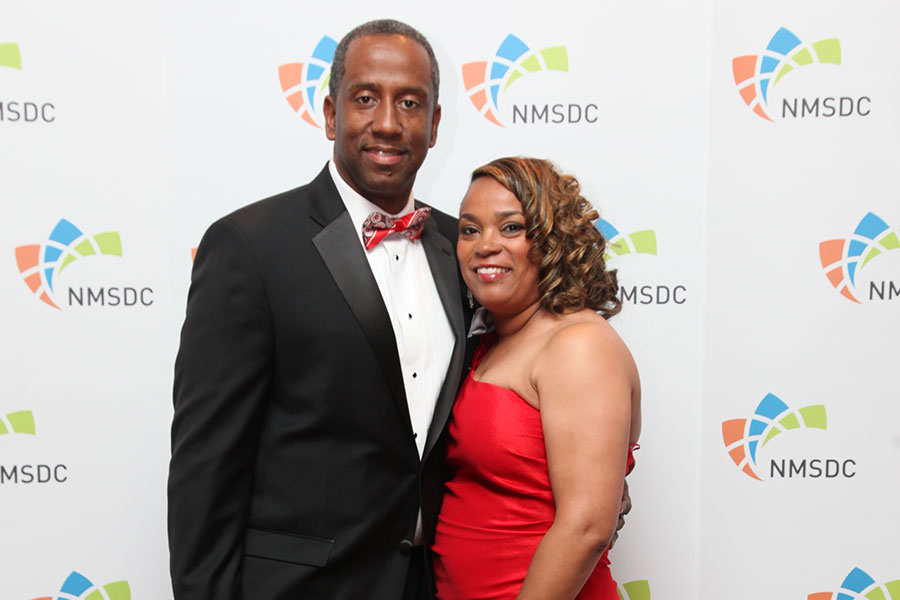 2015 Catalyst Award Honoree: John Munson, Jr. - Vice President, Supplier Diversity – Purchasing Macy's Inc. with guest.