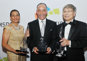 (L-R) 2015 Clarion Award Honoree: Benita Fortner - Raytheon Company; 2015 CPO of the Year Award Honoree: Shelley Stewart, Jr., C.P.S.M. -  DuPont; 2015 Clarion Award Honoree: Albert Chen - Telamon Corporation