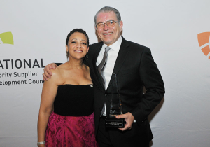 NMSDC President Joset Wright-Lacy with 2015 Vanguard Award Honoree: Fernando Martinez - President and CEO, Northwest Mountain MSDC