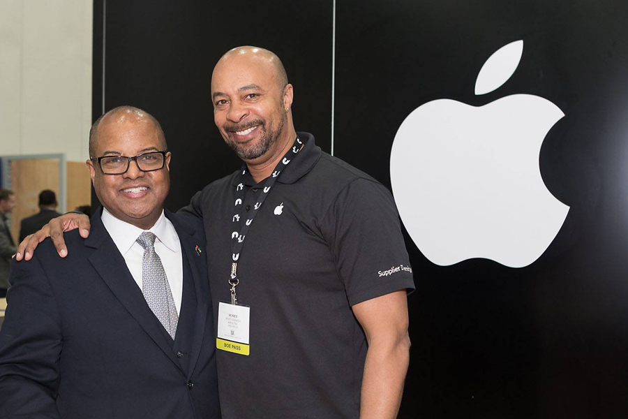 NMSDC interim President Louis Green and Apple's Scott Vowels