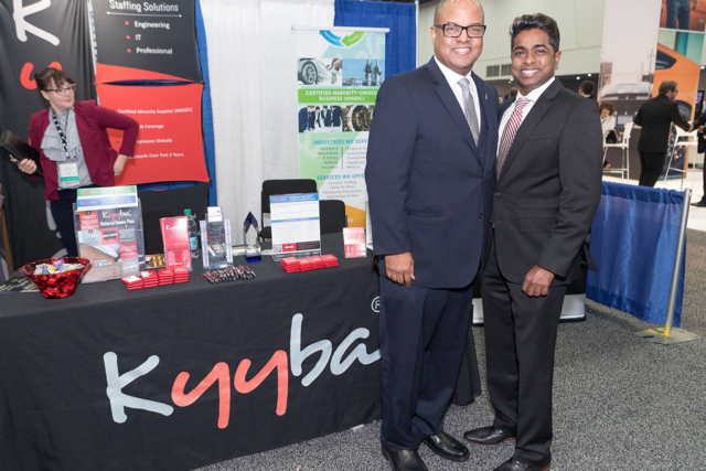 NMSDC interim President Louis Green and Kyyba's President and CEO Thiru Ganesan