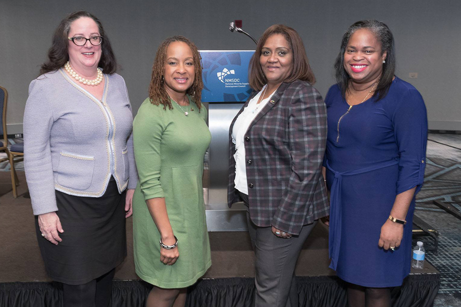 NMSDC 2017 Conference executives Maureen Simonette, Javette Hines, Pauline Gebon and Carrie McIndoe.