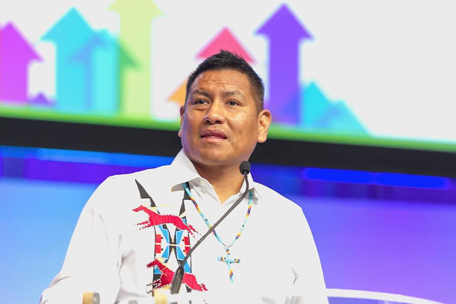 Chance Lee Rush,  Motivational Speaker, Member of three affiliated tribes (Hidatsa) of North Dakota