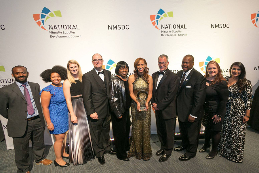 NMSDC 2017 Conference Class 3 Supplier of the year award winner Pam Isom, President & CEO, ICE Safety Solutions.