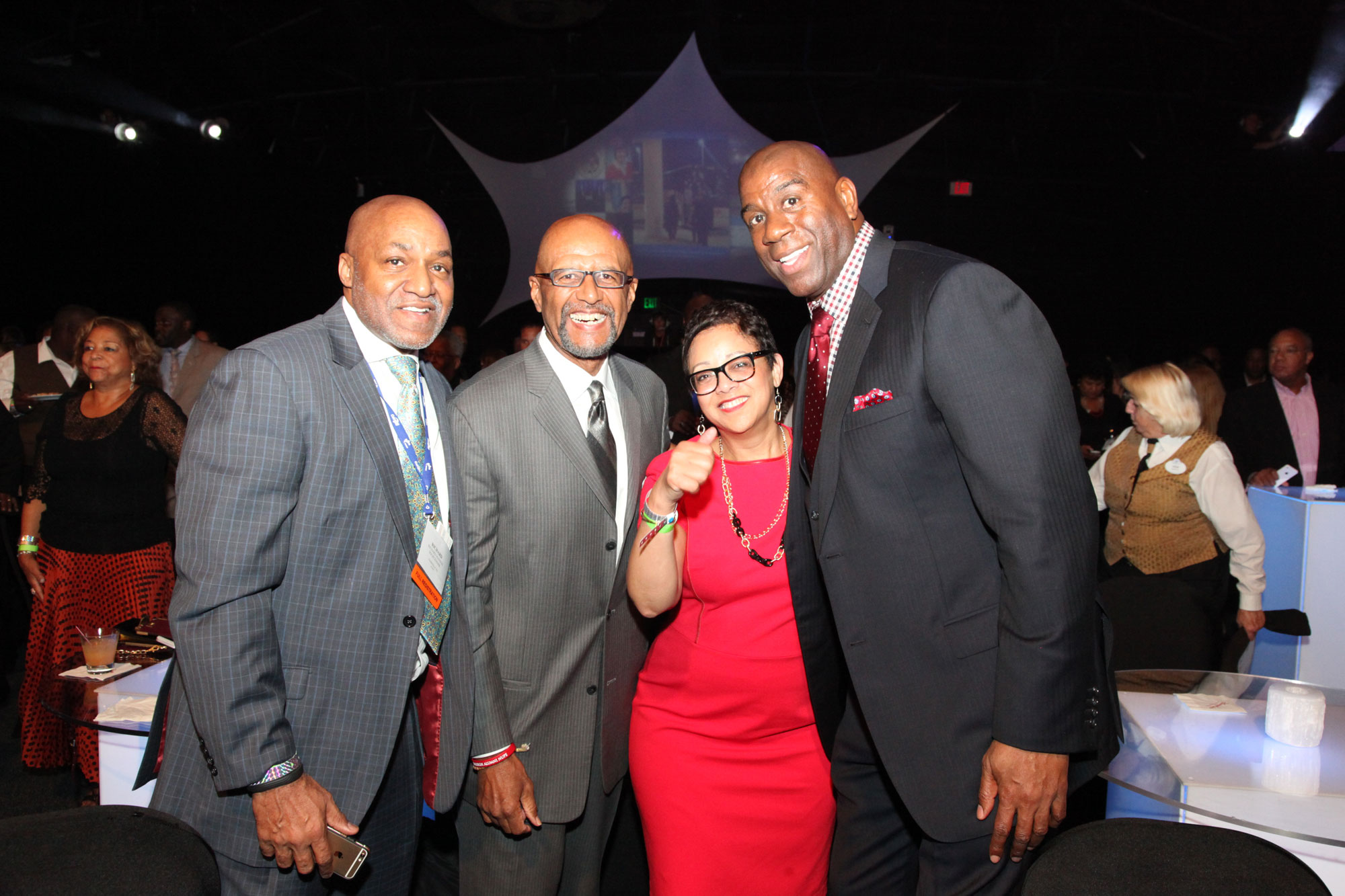 NMSDC President Joset Wright-Lacy Enjoys Sunday Evening's Surprise Performance