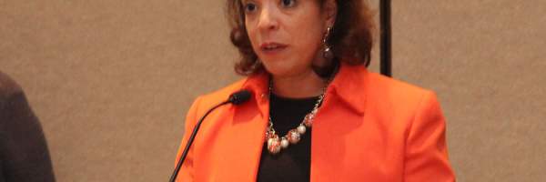 Alejandra Y. Castillo, Esq. (MBDA) speaks at the National MED Week Award Ceremony