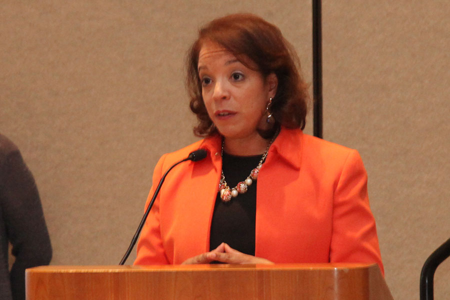 Alejandra Y. Castillo, Esq. (MBDA) speaks at the National MED Week Award Ceremony