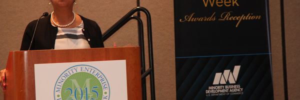 Joset Wright-Lacy (NMSDC) speaks at the National MED Week Award Ceremony
