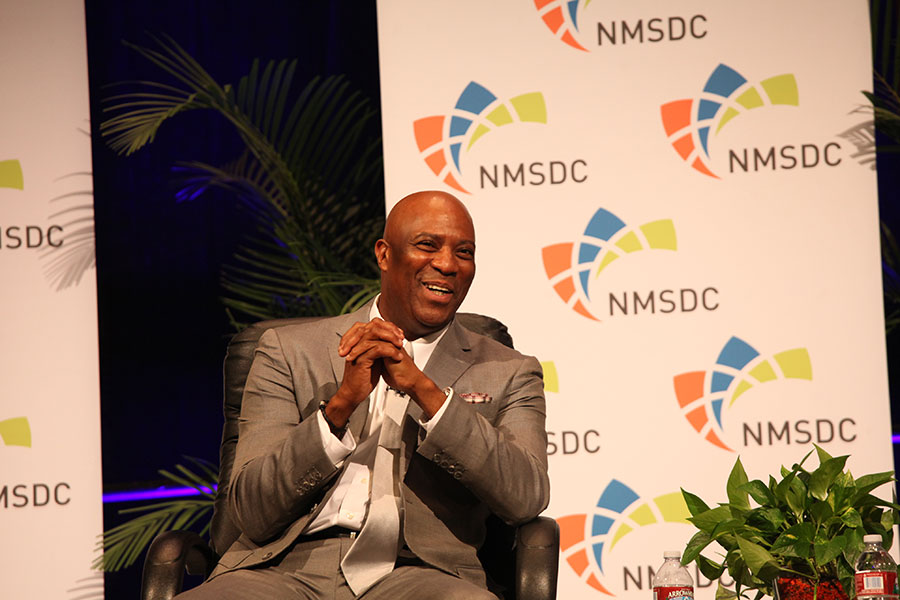 Panelist Sid Johnson (Delphi) at the Wednesday NMSDC Plenary Session