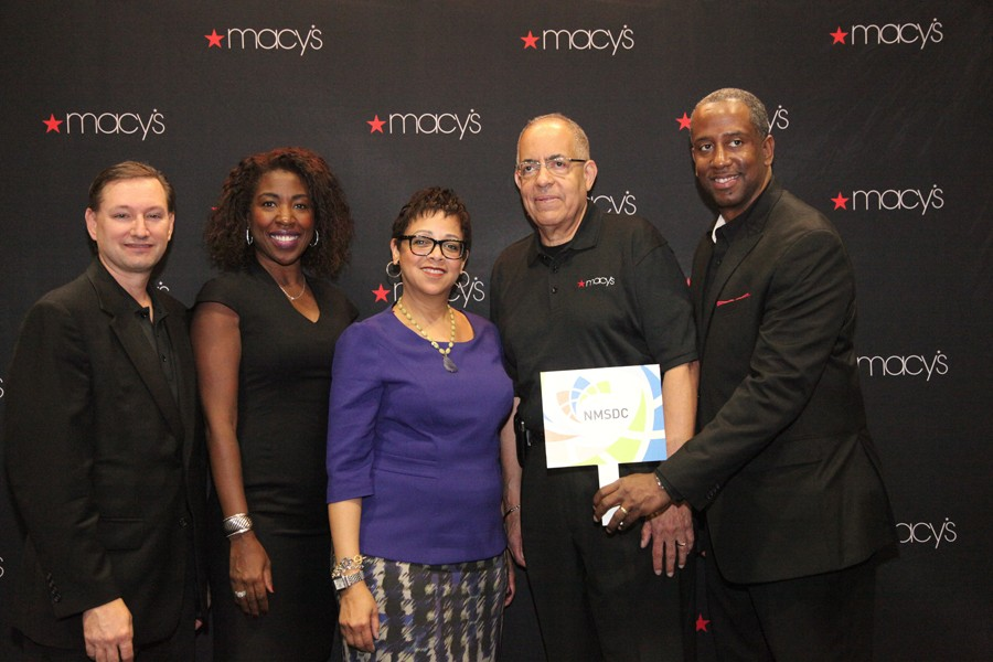 NMSDC President Joset Wright-Lacy visited the Macy's booth at the Business Opportunity Fair.