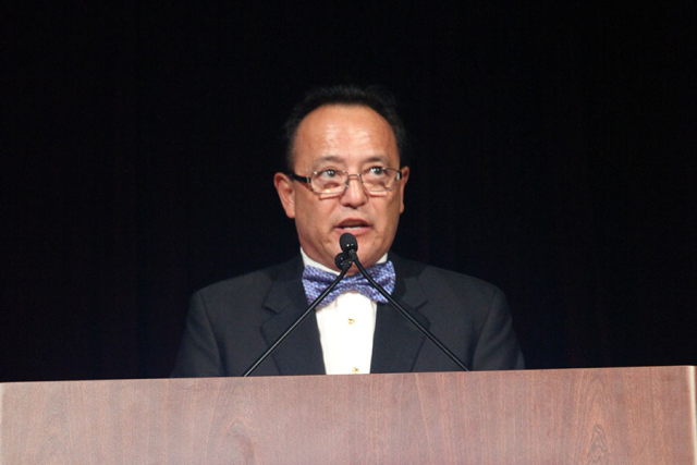 Bruce Geir (TIG) speaking at the 2015 NMSDC Awards Banquet