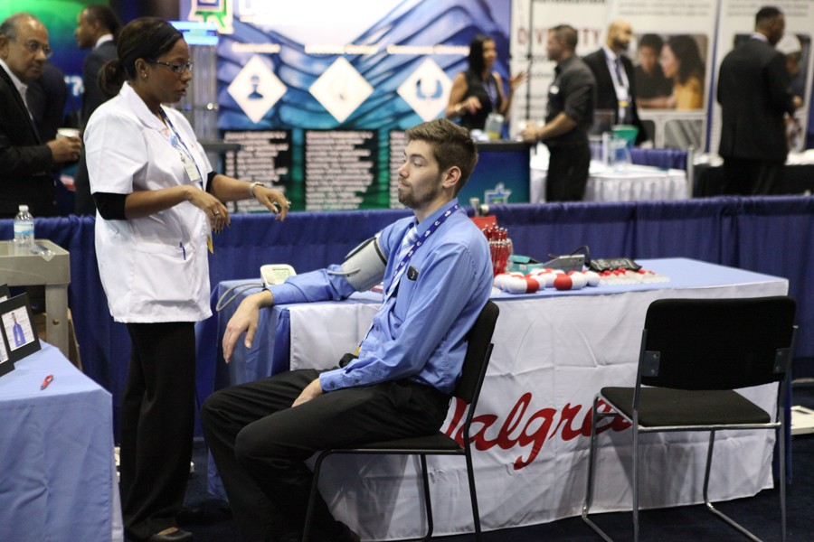 Walgreens offered wellness checks at their booth.
