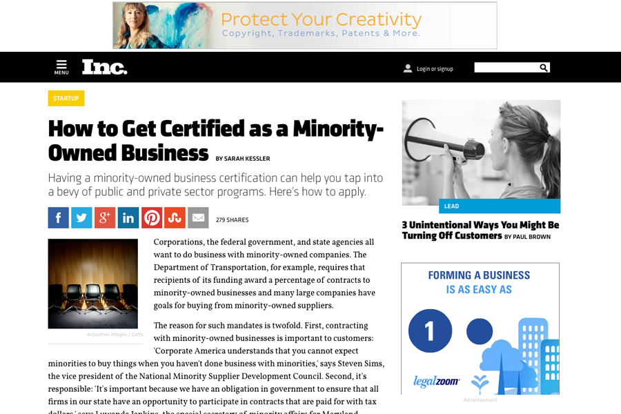 Inc Magazine - How to Get Certified as a Minority-Owned Business ...